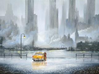 Собирать пазл Желтое такси онлайн