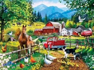 Собирать пазл Животные на ферме онлайн