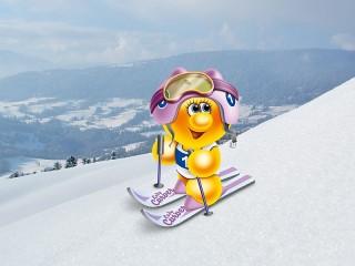 Собирать пазл Жизнь Gelini - лыжник онлайн