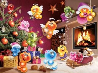 Собирать пазл Жизнь Gelini - Рождество онлайн