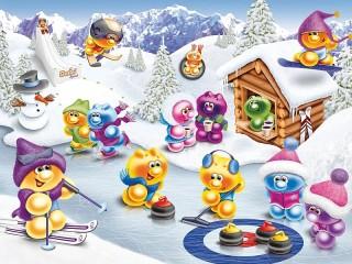 Собирать пазл Жизнь Gelini - зимние забавы онлайн