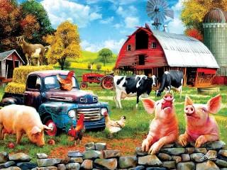 Собирать пазл Жизнь на ферме онлайн