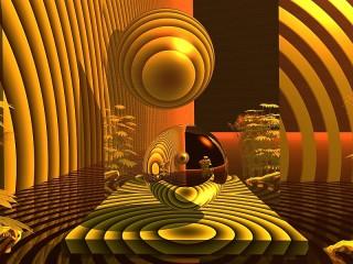 Собирать пазл Жёлтая абстракция онлайн
