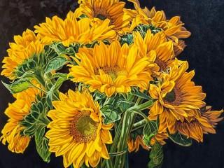 Собирать пазл Жёлтые цветы онлайн