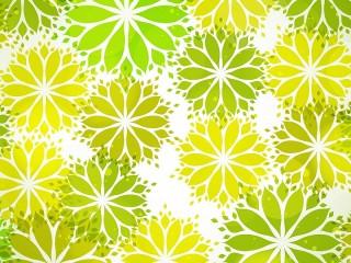 Собирать пазл Жёлто-зелёный узор онлайн