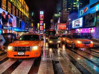 Собирать пазл Жёлтое такси онлайн