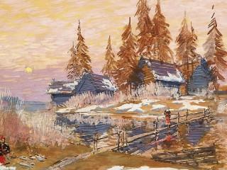 Собирать пазл Зима онлайн