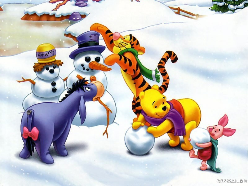 Пазл Собирать пазлы онлайн - Зима пришла