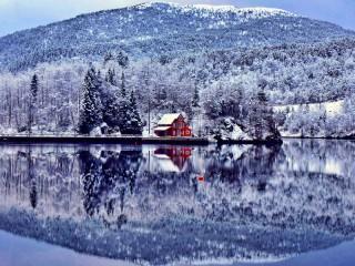 Собирать пазл Зима в Альпах онлайн