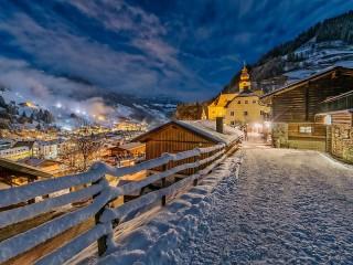 Собирать пазл Зима в Австрии онлайн