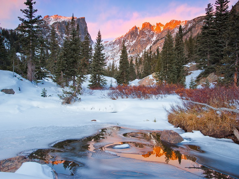 Пазл Собирать пазлы онлайн - Зима в горах