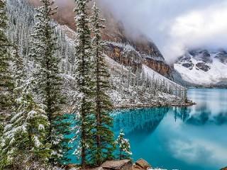 Собирать пазл Зима в горах онлайн