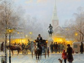 Собирать пазл Зима в городе онлайн