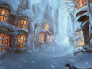 Собирать пазл Зима в Хогсмиде онлайн
