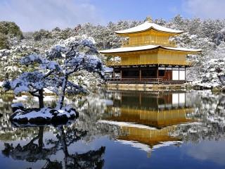 Собирать пазл Зима в Киото онлайн
