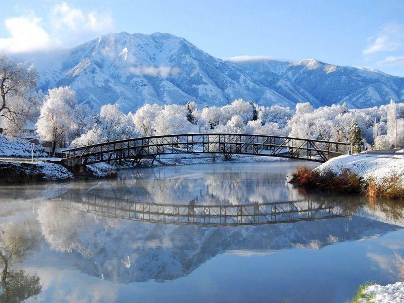 Пазл Собирать пазлы онлайн - Зимние горы
