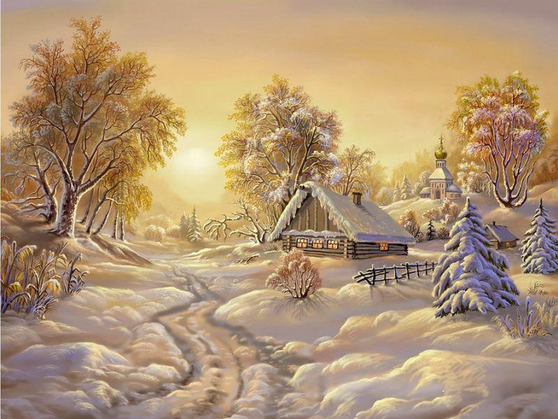 Пазл Собирать пазлы онлайн - Зимние красоты
