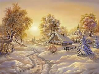 Собирать пазл Зимние красоты онлайн