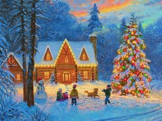 Собирать пазл Зимние радости онлайн
