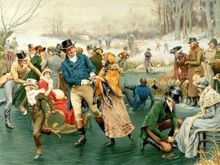 Собирать пазл Зимние развлечения онлайн