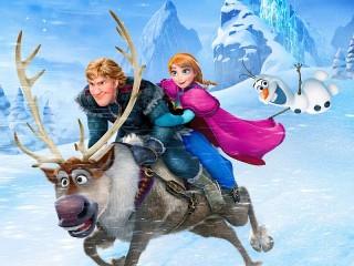 Собирать пазл Зимние скачки онлайн