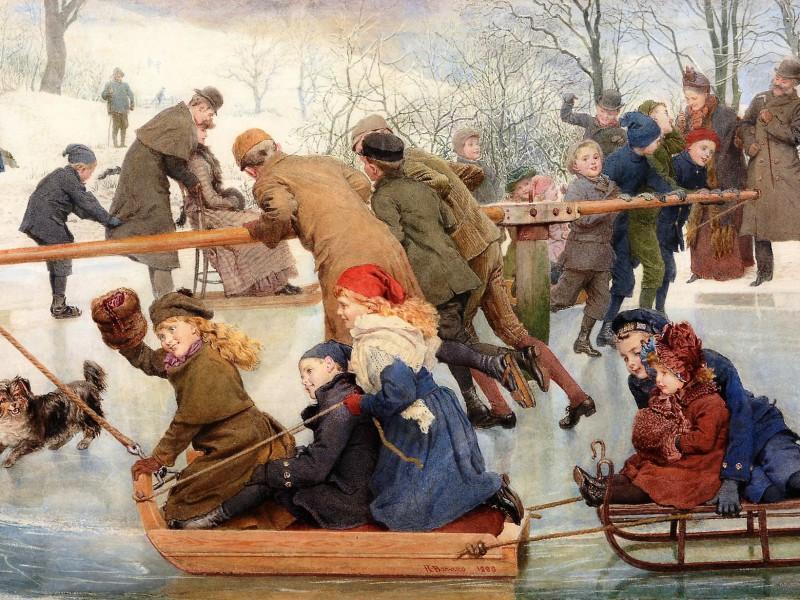 Пазл Собирать пазлы онлайн - Зимние забавы