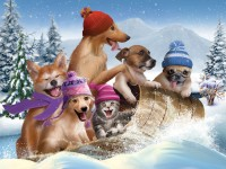 Собирать пазл Зимние забавы онлайн