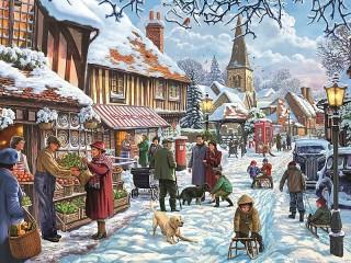 Собирать пазл Зимний день онлайн