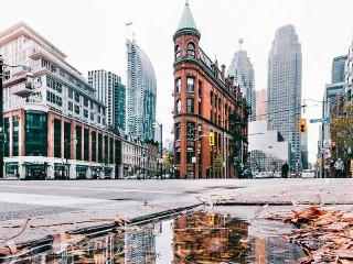 Собирать пазл Зимний город онлайн