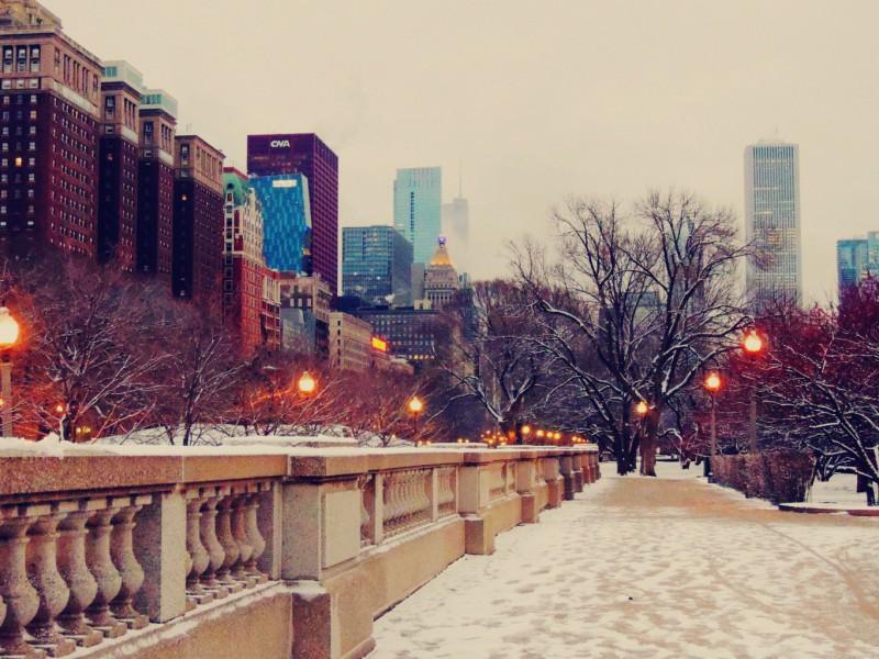 Пазл Собирать пазлы онлайн - Зимний Чикаго