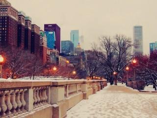 Собирать пазл Зимний Чикаго онлайн