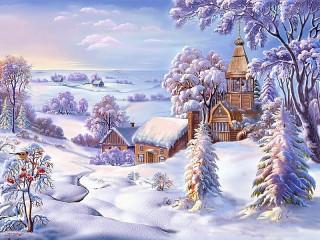Собирать пазл Зимний денёк онлайн