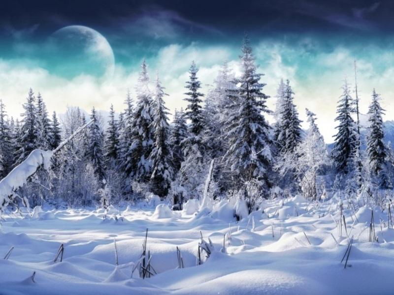 Пазл Собирать пазлы онлайн - Зимний вечер