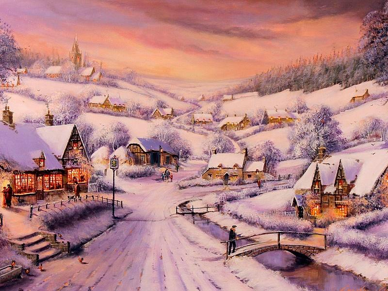 Пазл Собирать пазлы онлайн - Зимний закат