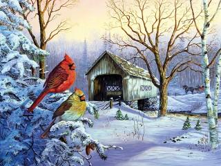 Собирать пазл Зимняя природа онлайн