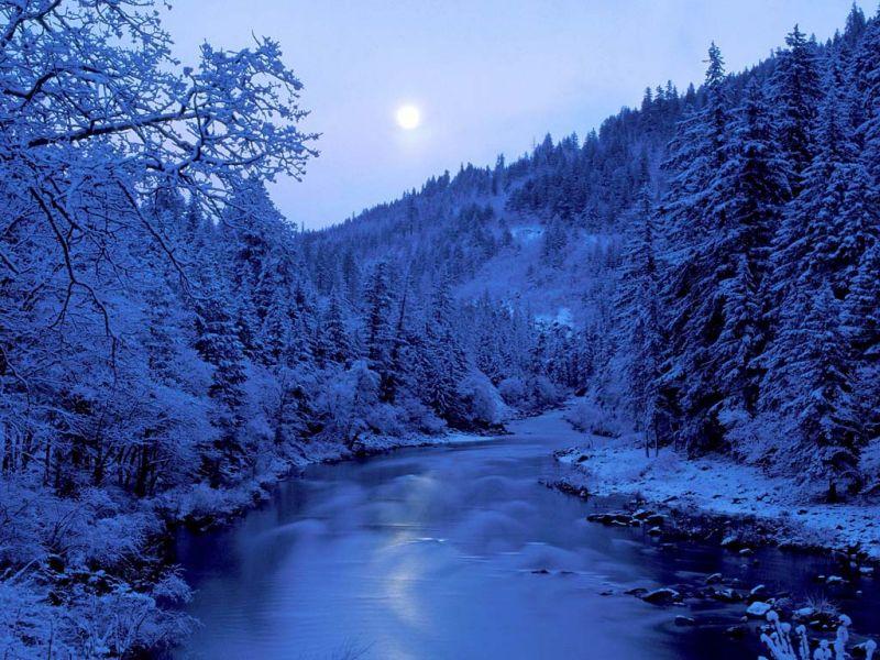 Пазл Собирать пазлы онлайн - Зимняя река