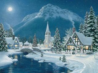 Собирать пазл Зимняя сказка онлайн