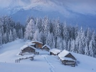 Собирать пазл Зимой на полонине онлайн