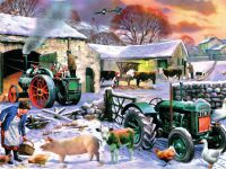 Собирать пазл Зимой на ферме онлайн