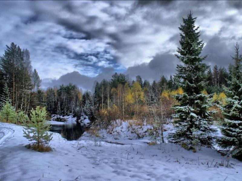 Пазл Собирать пазлы онлайн - Зимушка зима2