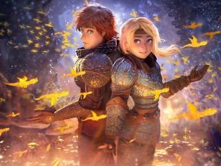 Собирать пазл Золотые драконы онлайн