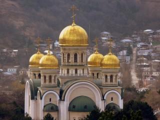 Собирать пазл Золотые купола онлайн