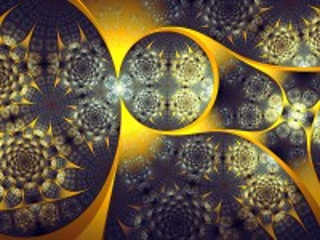 Собирать пазл Золотая абстракция онлайн