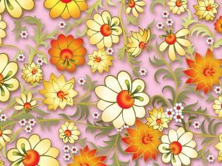 Собирать пазл Золотистые цветы онлайн