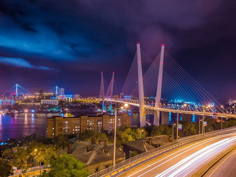 Пазл Собирать пазлы онлайн - Золотой мост. Владивосток