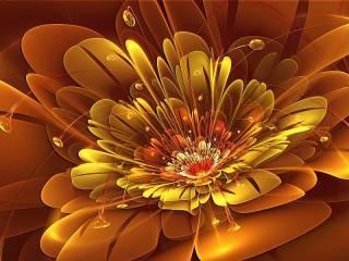 Собирать пазл Золотой цветок онлайн