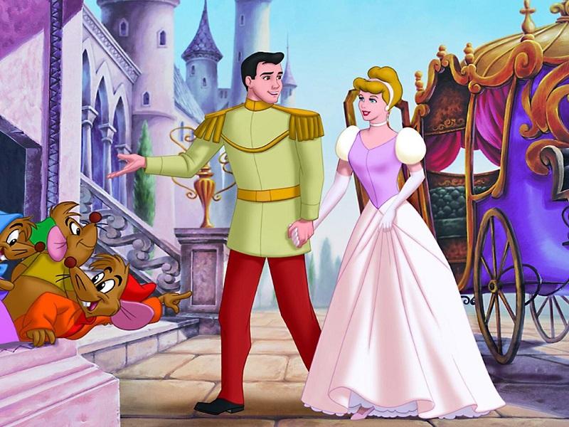 Пазл Собирать пазлы онлайн - Золушка с принцем