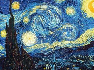 Собирать пазл Звездная ночь онлайн