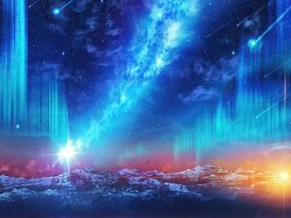 Собирать пазл Звёздный дождь онлайн