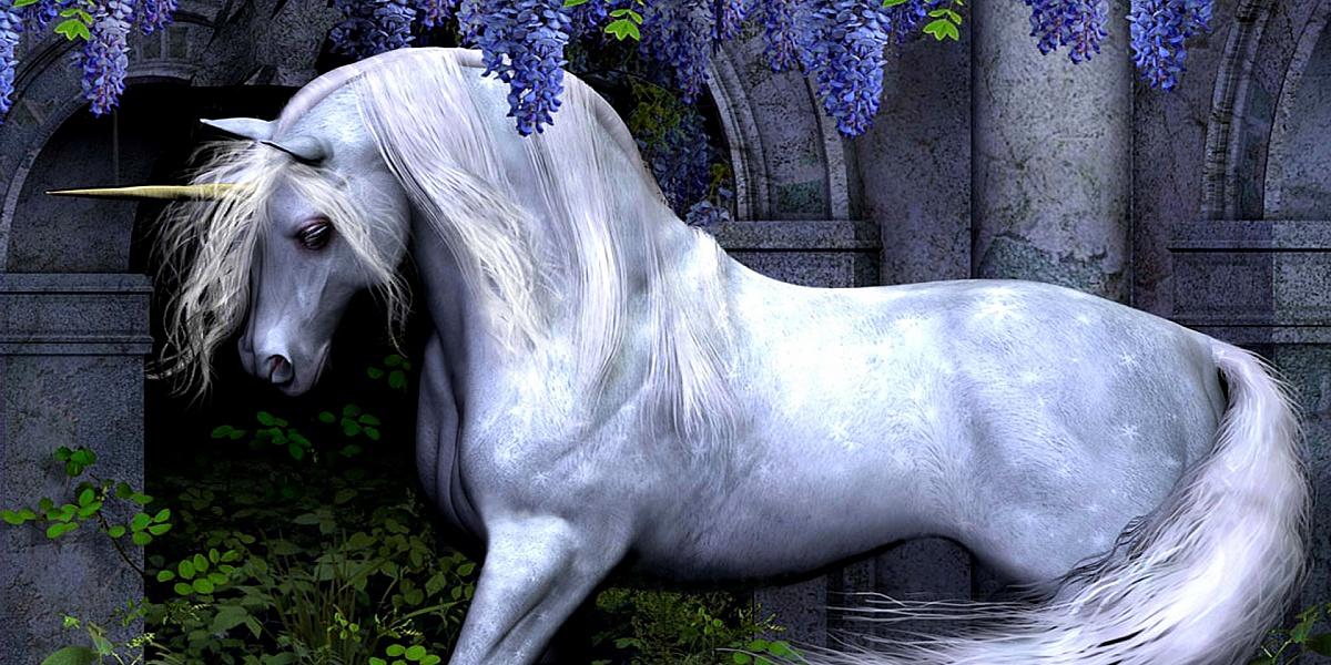 Пазл Собирать пазлы онлайн - Единорог и цветы